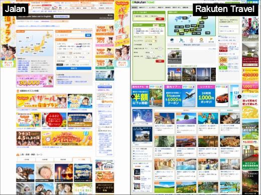 Comparison between Jalan and Rakuten Travel