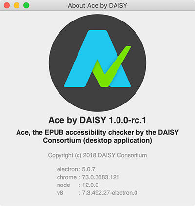 Ace by DAISY Appの「About Ace」画面