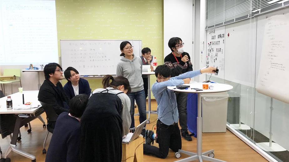 第9回マークアップ部(1月17日開催)会場を仙台へ中継している様子