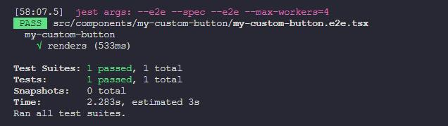 テストの実行結果を表示したコマンドプロンプトのキャプチャ