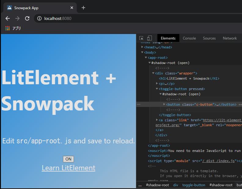 Chụp màn hình với các thuộc tính chuyển đổi trong Chrome DevTools khi được nhấp vào