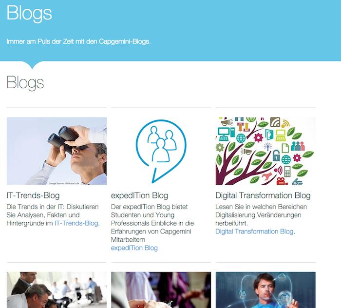 Capgemini社のドイツ語で描かれているブログ