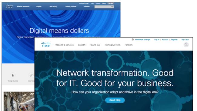 CiscoのWebデザインの新旧比較