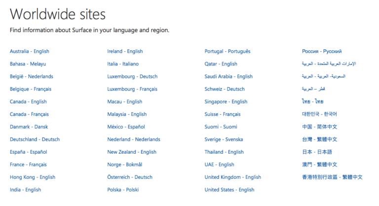 Microsoftのグローバル・ゲートウェイ
