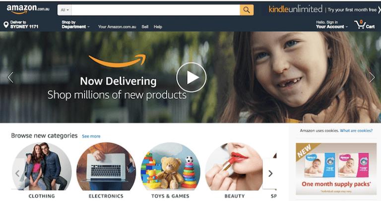 Amazon.com.auのスクリーンショット