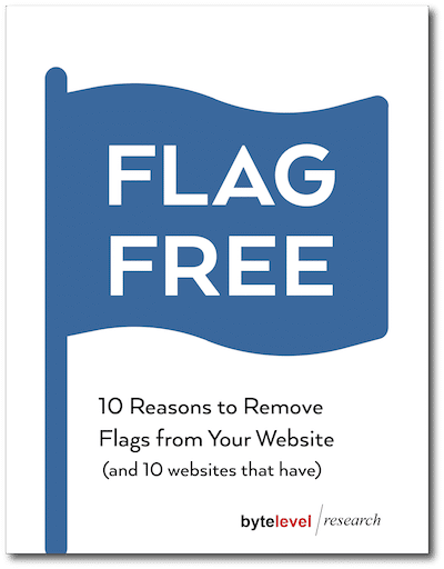 レポート「FLAG FREE: 10 Reasons to Remove Flags from Your Website」