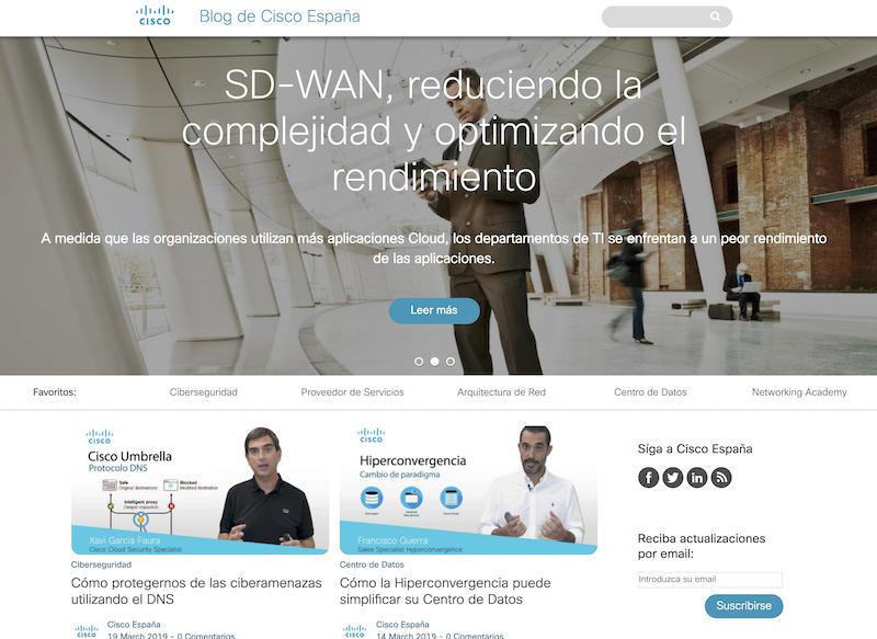 Ciscoの運営するスペイン向けBlog