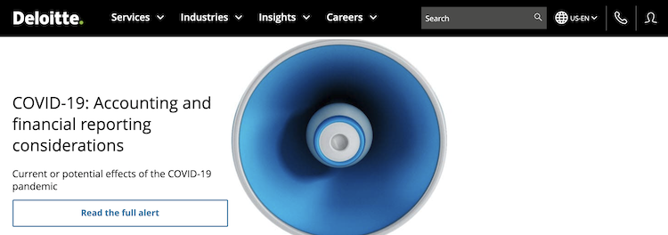 DeloitteのWebサイト