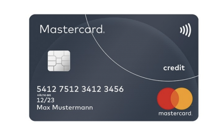 Mastercardが掲載しているドイツ向けのサンプルカード