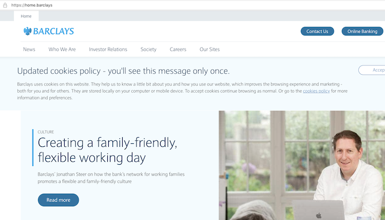 Barclaysのサイトの画面キャプチャ