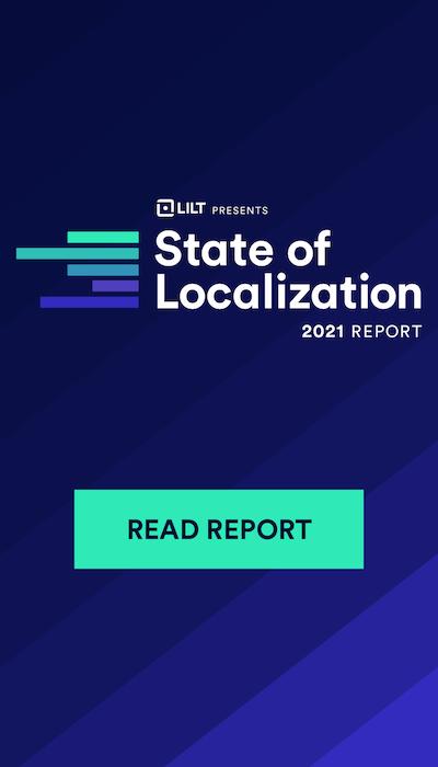 レポートのダウンロードページ(State of Localization 2021 Report)