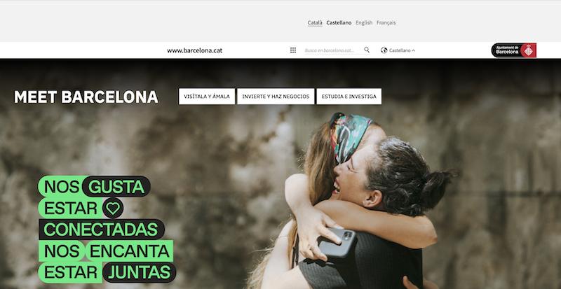 Barcelonaのサイト(カタルーニャ語版)