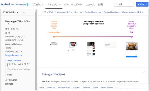 Facebook社によるMessenger Platform Component Spectrum