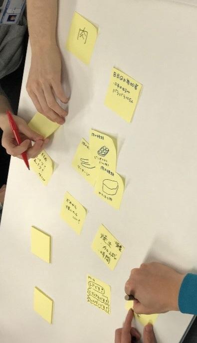 グループワークの作業風景の写真