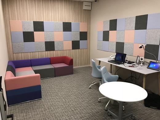 新しいユーザーテストスタジオの全景の写真